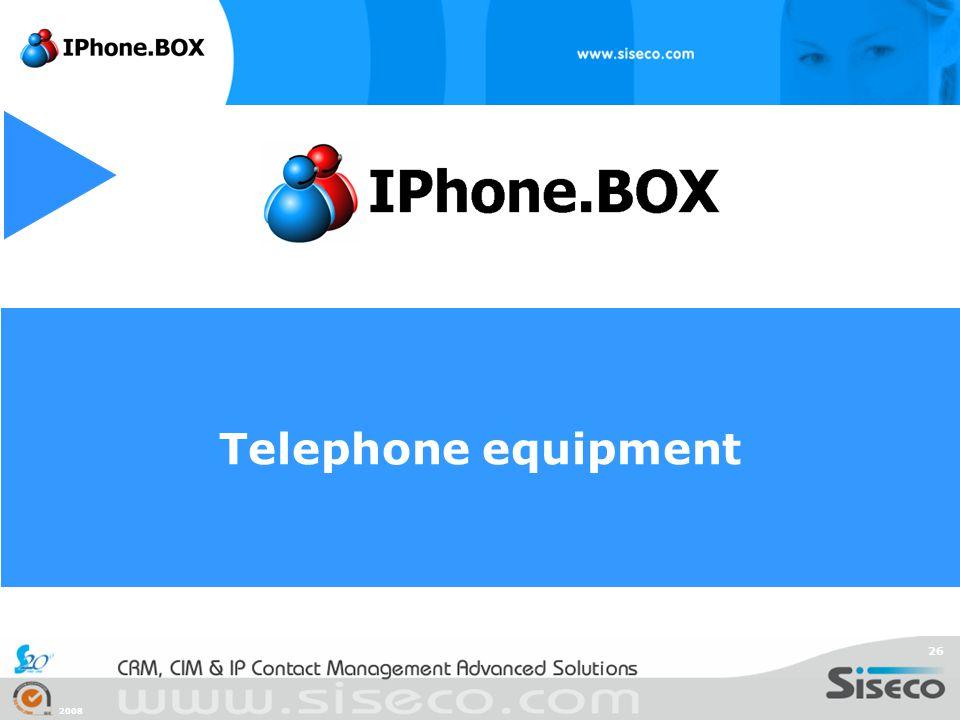 2008 26 Telephone equipment