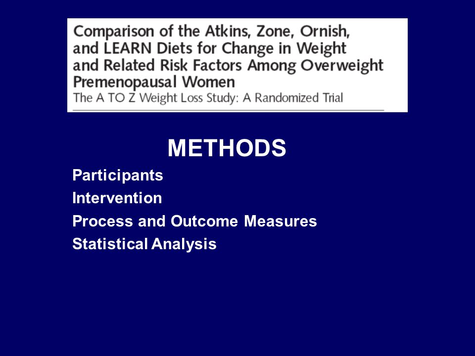 METHODS Participants Intervention Process and Outcome Measures Statistical Analysis