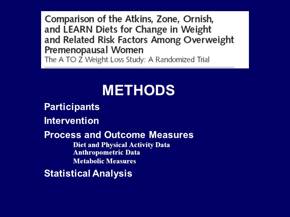 METHODS Participants Intervention Process and Outcome Measures Diet and Physical Activity Data Anthropometric Data Metabolic Measures Statistical Anal