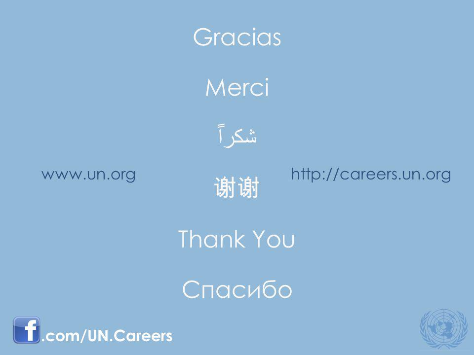 http://careers.un.orgwww.un.org Gracias Merci Thank You Спасибо.com/UN.Careers