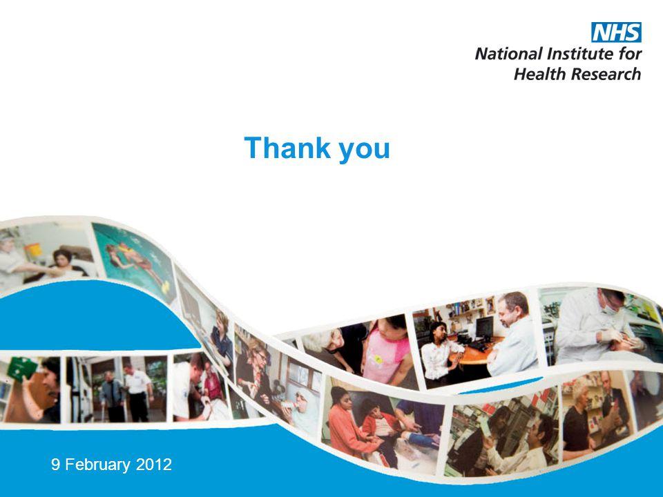 Thank you 9 February 2012