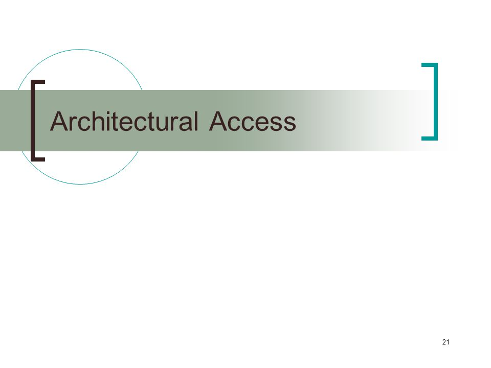 21 Architectural Access