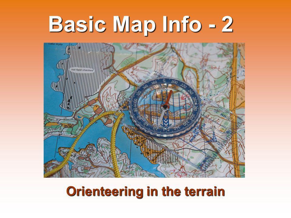 Control descriptions used for orienteering in the terrain...