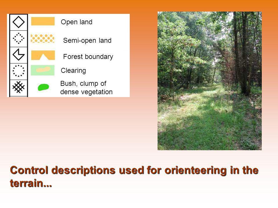 Open land Semi-open land Forest boundary Clearing Bush, clump of dense vegetation