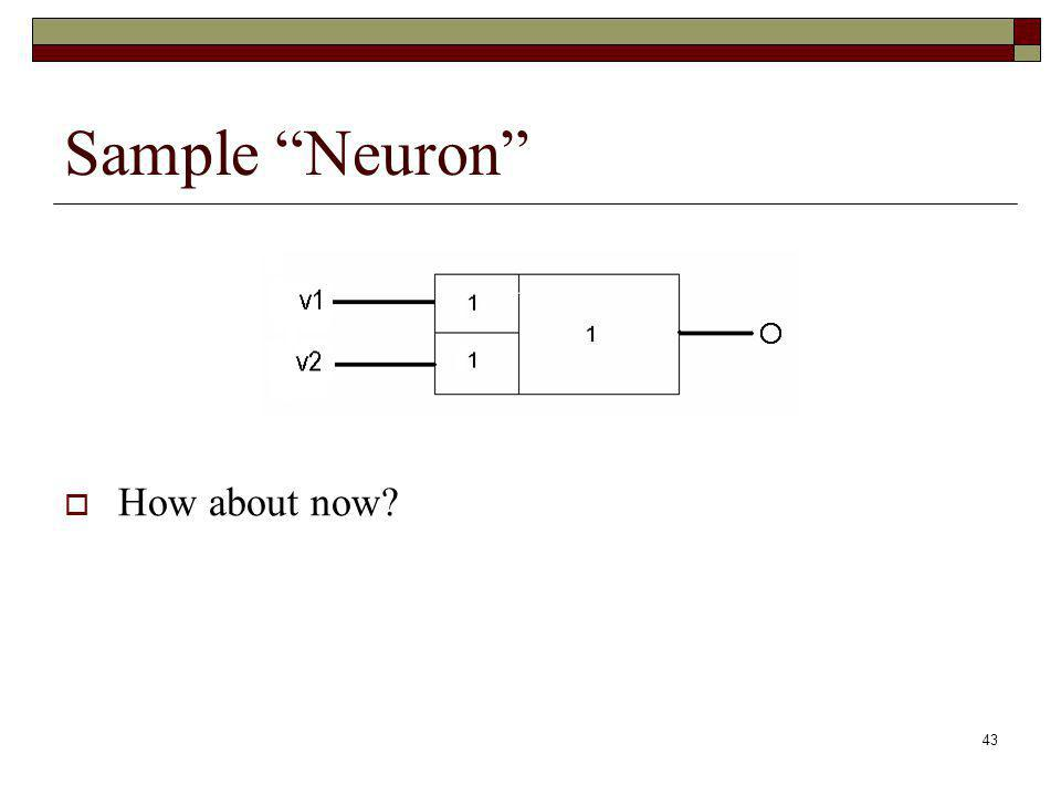 43 Sample Neuron How about now?