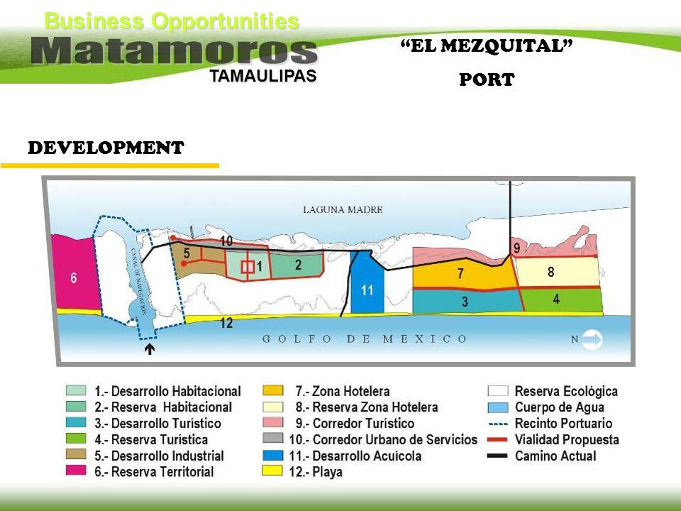 Business Opportunities TAMAULIPAS DEVELOPMENT EL MEZQUITAL PORT