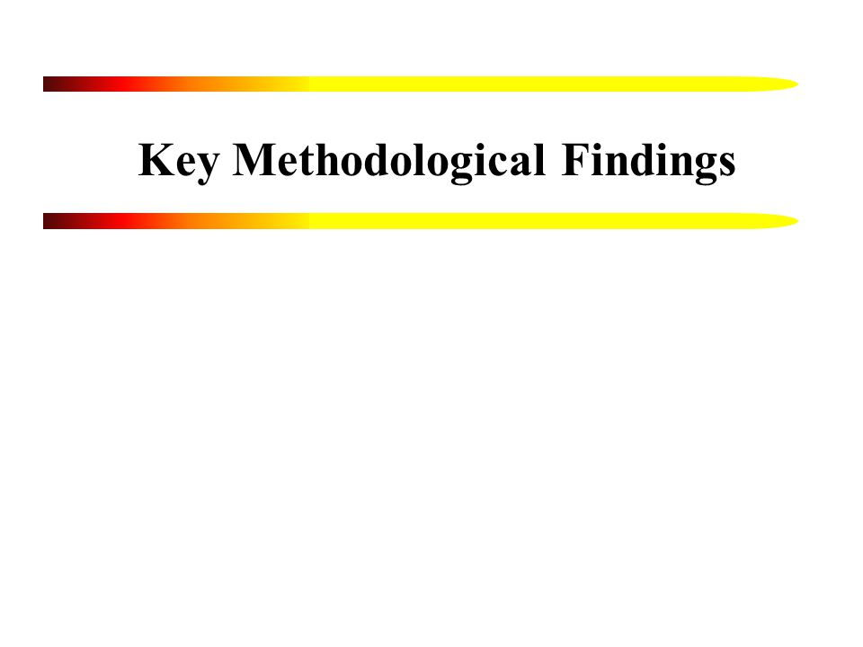 Key Methodological Findings