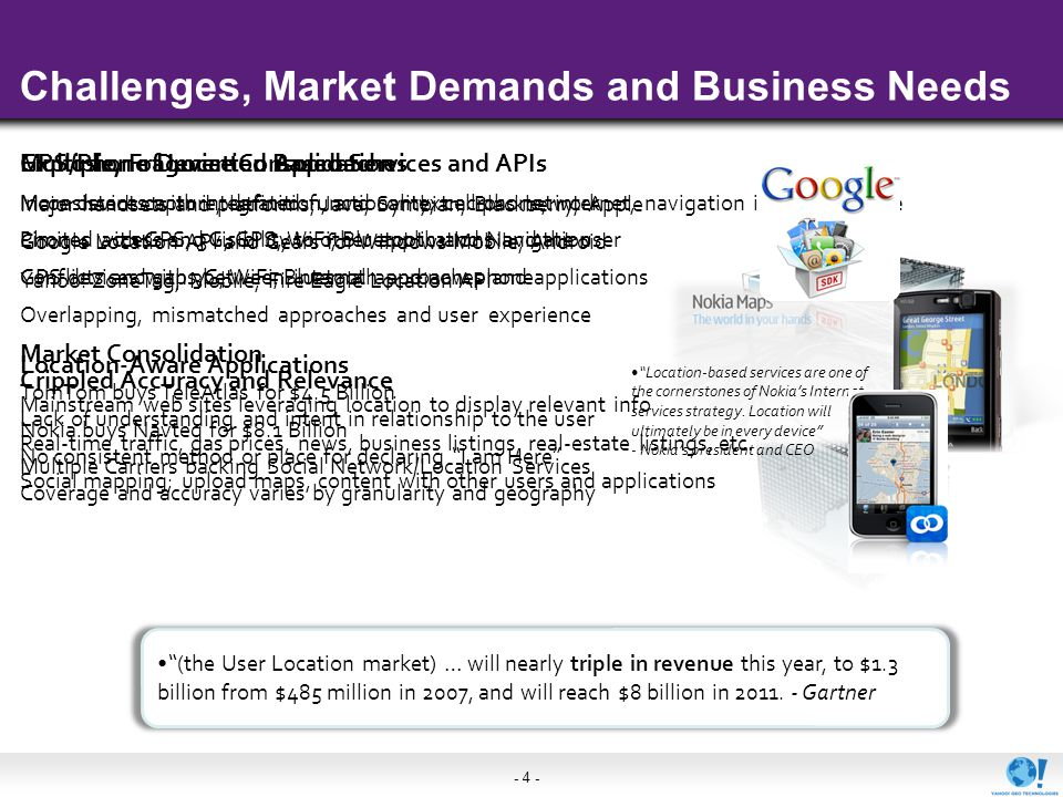 - 4 - Challenges, Market Demands and Business Needs Multiple, Fragmented Approaches Inconsistent capture, definition, and context across network Limit