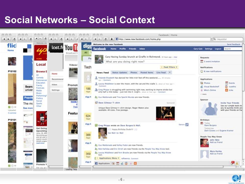 - 6 - Social Networks – Social Context