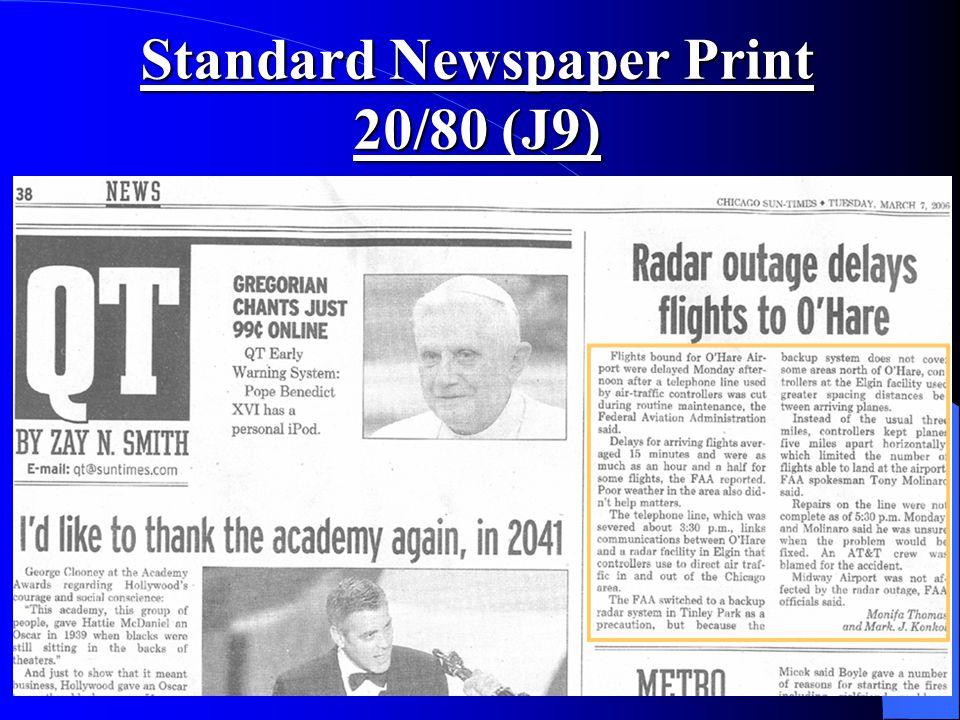 Standard Newspaper Print 20/80 (J9)