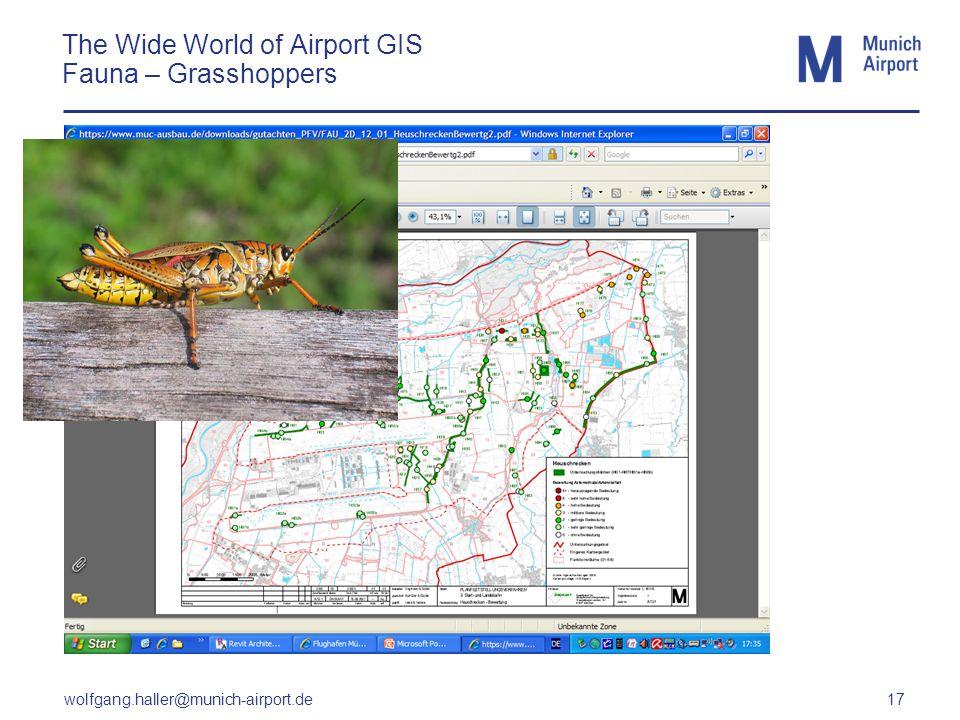 wolfgang.haller@munich-airport.de 17 The Wide World of Airport GIS Fauna – Grasshoppers