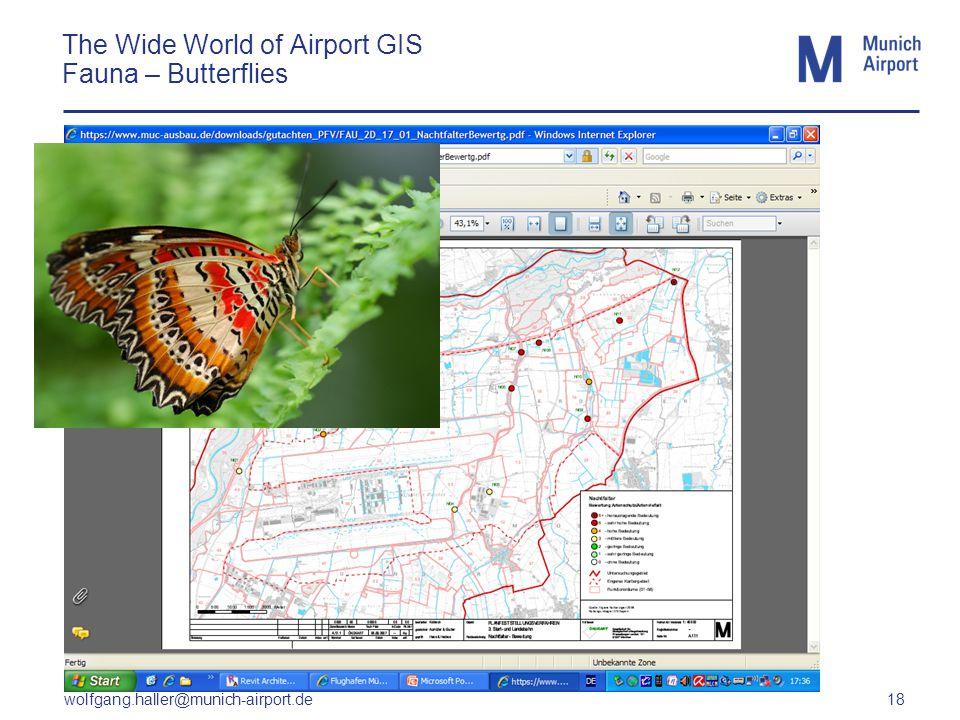 wolfgang.haller@munich-airport.de 18 The Wide World of Airport GIS Fauna – Butterflies