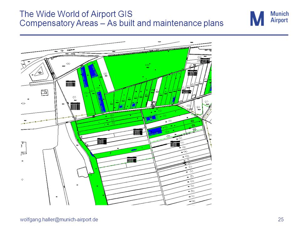 wolfgang.haller@munich-airport.de 25 The Wide World of Airport GIS Compensatory Areas – As built and maintenance plans