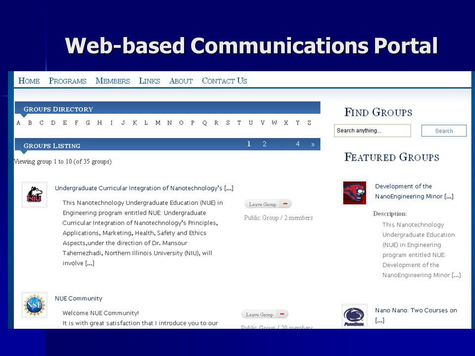 Web-based Communications Portal