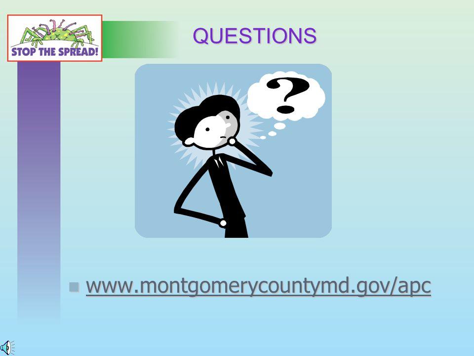 QUESTIONS www.montgomerycountymd.gov/apc www.montgomerycountymd.gov/apc www.montgomerycountymd.gov/apc