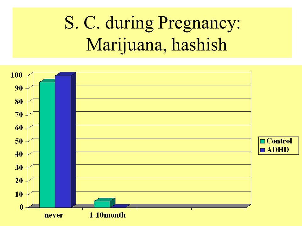 S. C. during Pregnancy: Marijuana, hashish