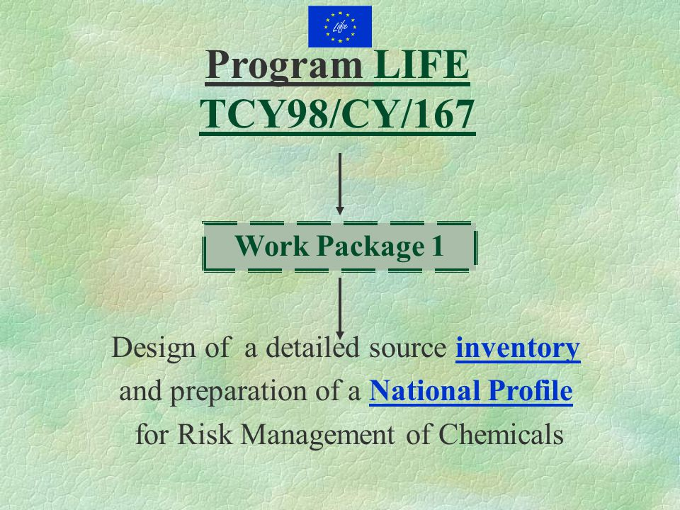 Program LIFE TCY98/CY/167 Work Package 1 Design of a detailed source inventory and preparation of a National Profile for Risk Management of Chemicals