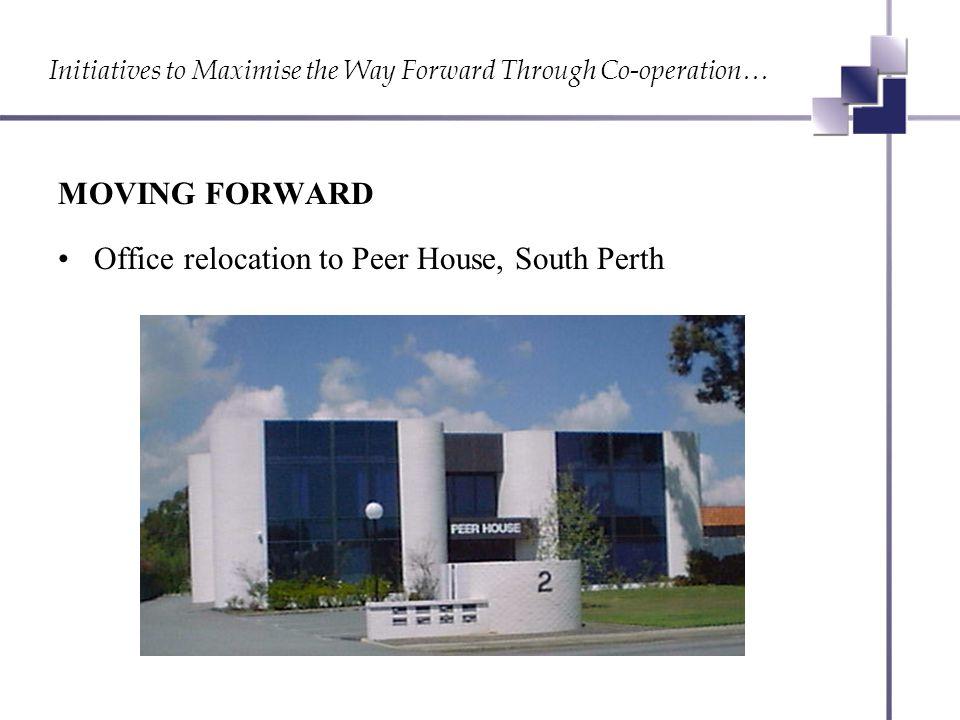 Initiatives to Maximise the Way Forward Through Co-operation… MOVING FORWARD New Chairman John Carstairs New Deputy Chairman Trent Bartlett 2004 Member Survey