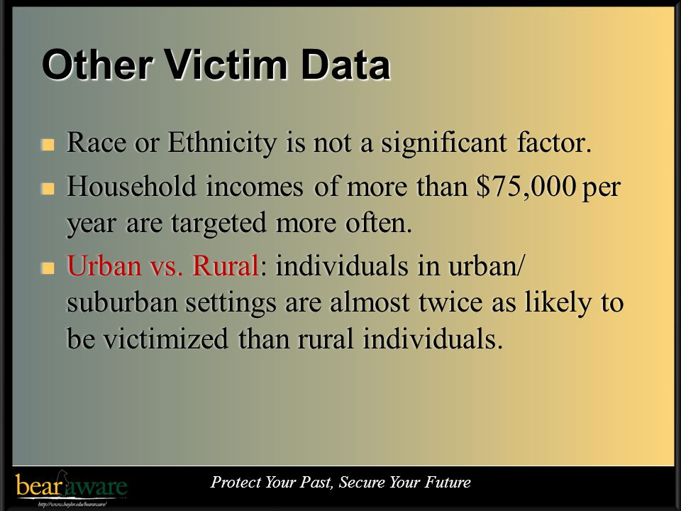 Other Victim Data Race or Ethnicity is not a significant factor.