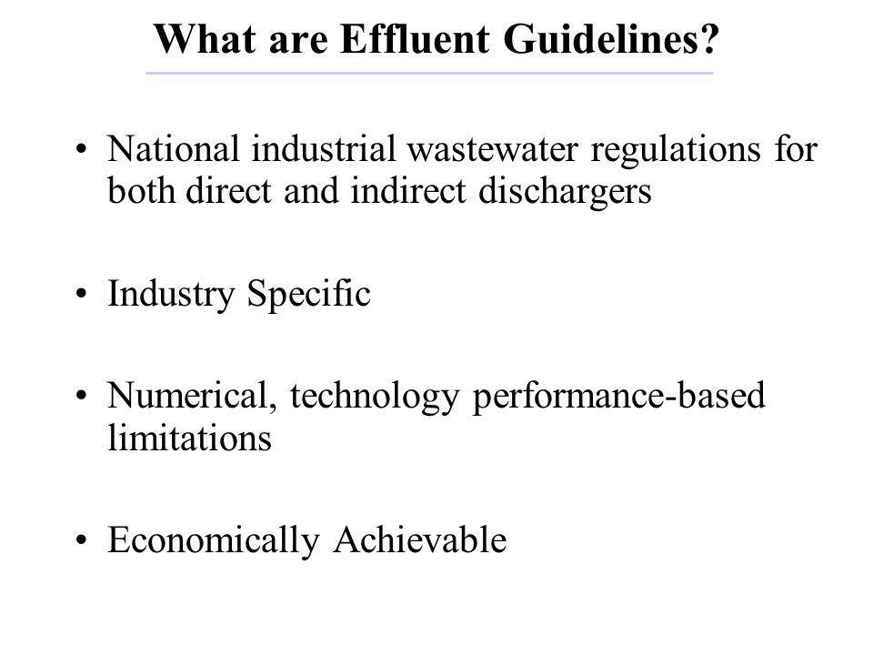 Summary of Metals Industry Effluent Guidelines