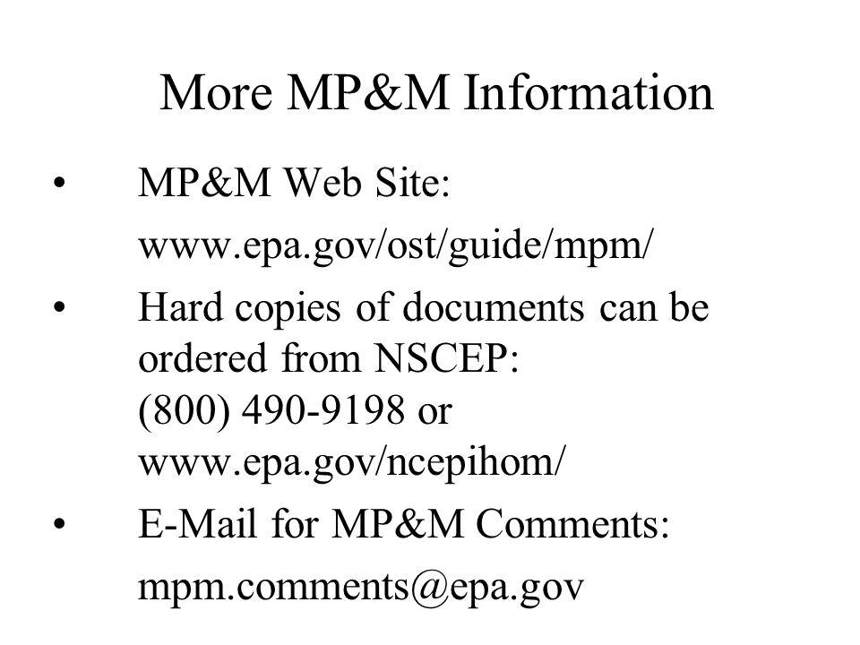 Other Issues for Comment EPA has solicited comment on 43 different topics.