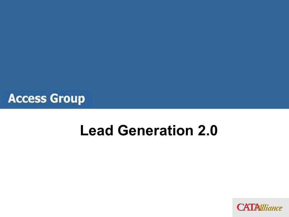 Lead Generation 2.0