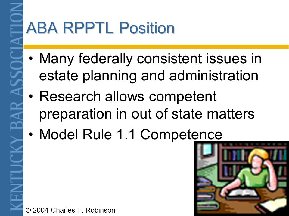 © 2004 Charles F. Robinson MJP Issues Protection of public and clients- Home state/Host state –Or is the rule protectionist for host state lawyers? Ho