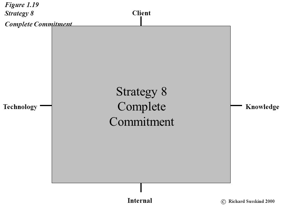 Client KnowledgeTechnology Internal Figure 1.18 Strategy 7 Progressive Strategy 7 Progressive C Richard Susskind 2000