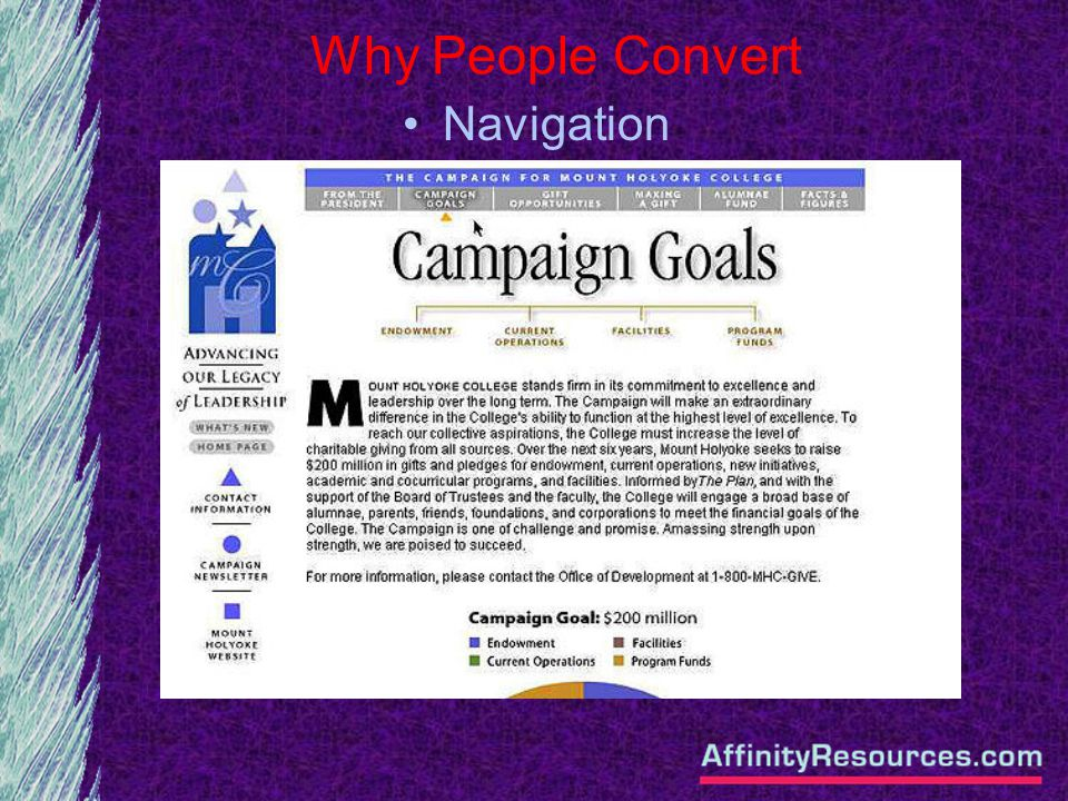 Why People Convert Navigation