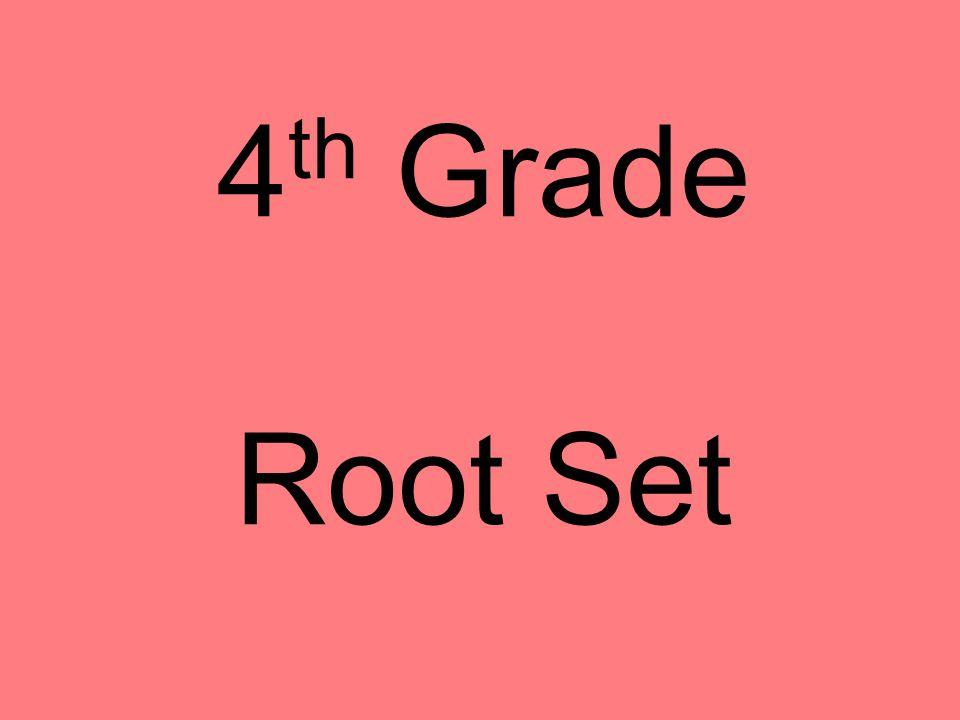 4 th Grade Root Set