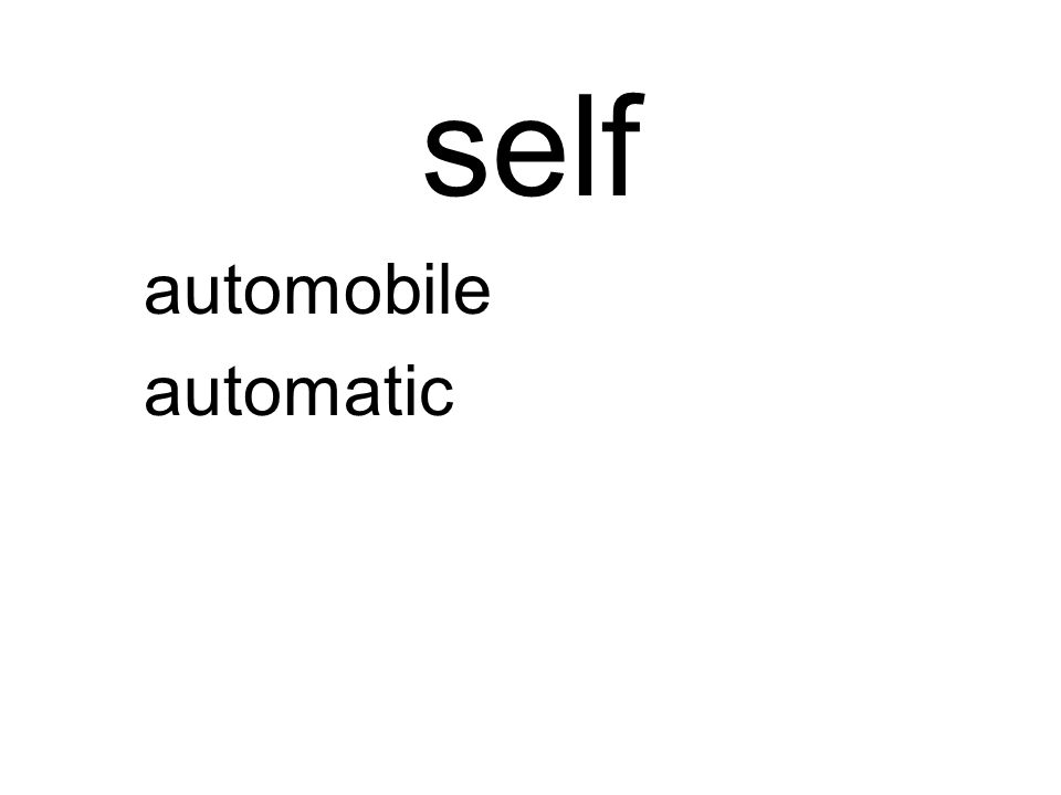 self automobile automatic