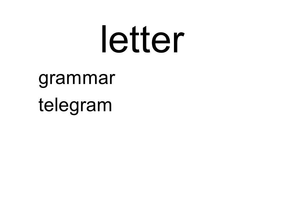 letter grammar telegram