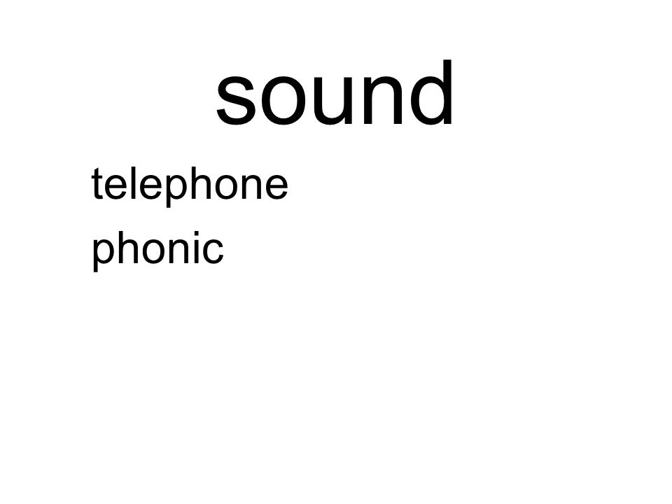 sound telephone phonic