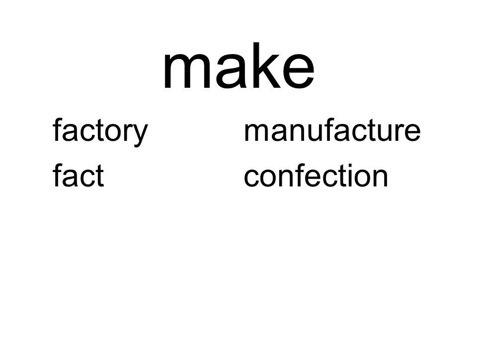 make factorymanufacture factconfection