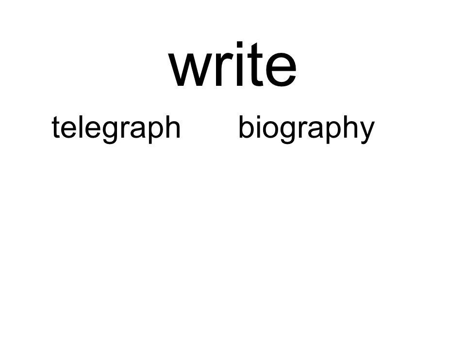 write telegraphbiography