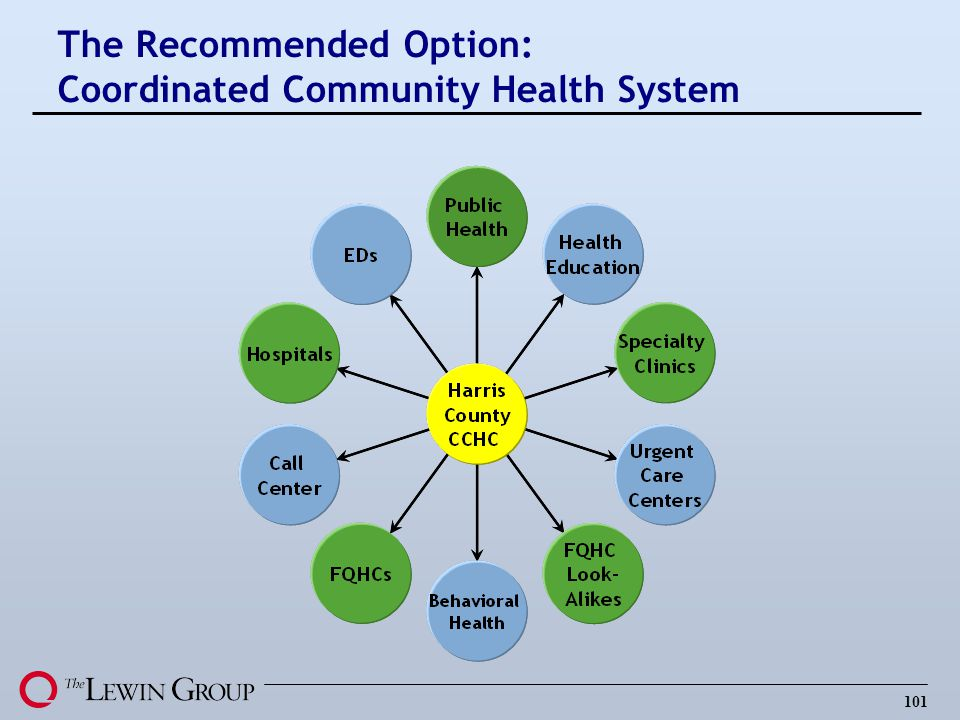 101 The Recommended Option: Coordinated Community Health System