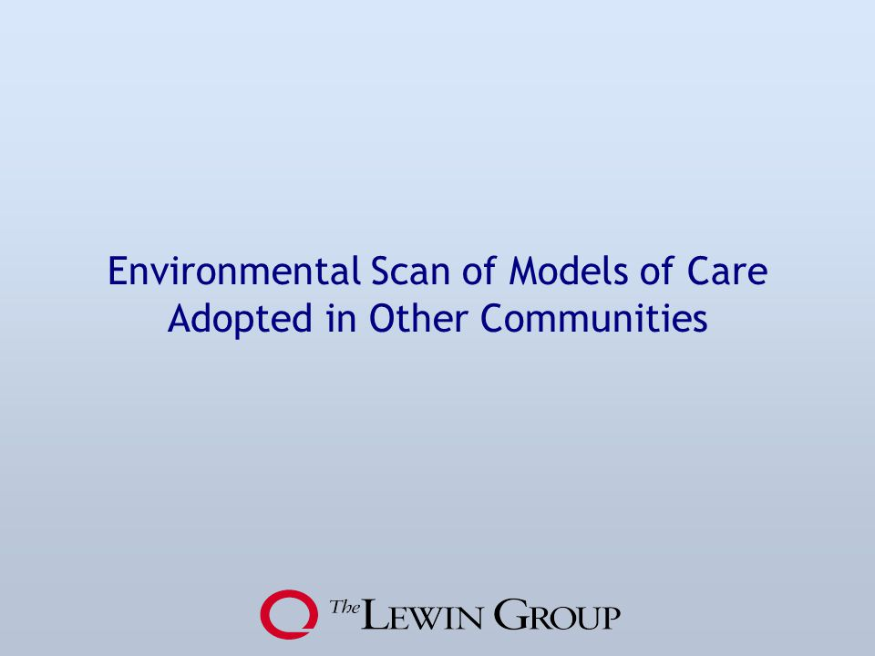 Environmental Scan of Models of Care Adopted in Other Communities