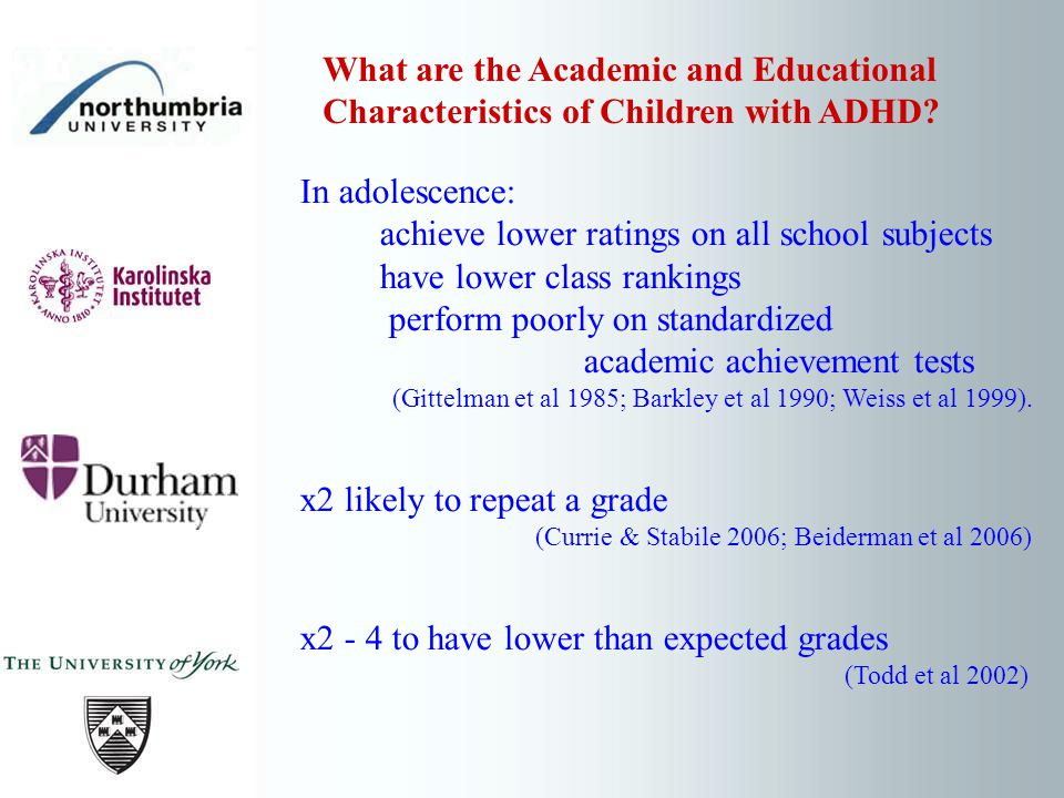 Impact of Medication & Robo Memo on Working Memory Participants: 25 children (21 boys, 4 girls), clinical diagnosis of ADHD-C receiving quick release stimulant medication (methylphenidate n=22, dexamfetamine n=3) aged 8-11 years diagnosis for at least 6 months no co morbid ASD (Holmes et al 2010) Hartlepool Study (2)