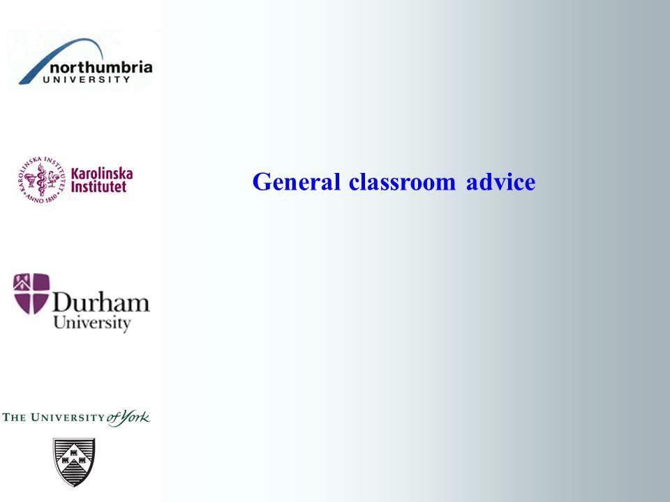 General classroom advice