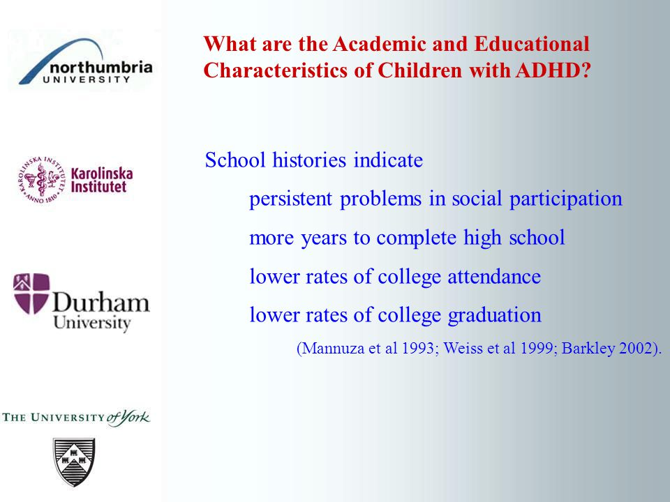 Can good academic attainment ever be achieved by children with ADHD.