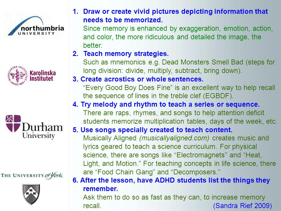 1.Draw or create vivid pictures depicting information that needs to be memorized.