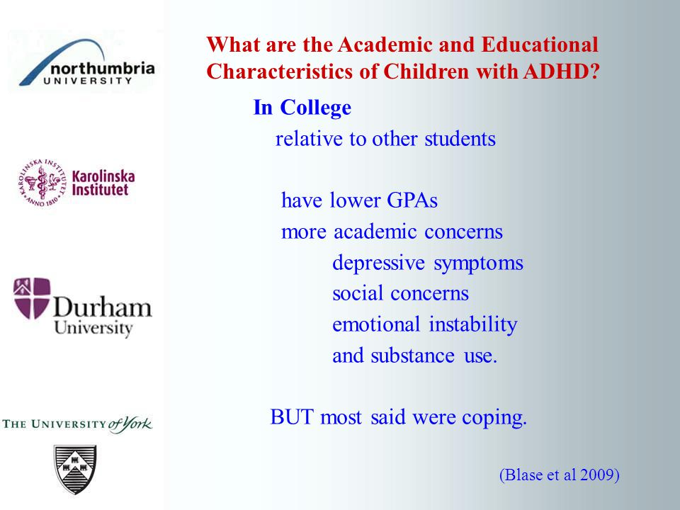 However, stimulants are not associated with normalization of skills in the domain of learning and applying knowledge.