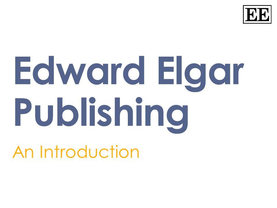 Edward Elgar Publishing An Introduction