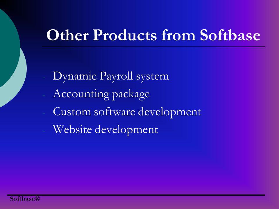 Softbase® About Softbase P.O.