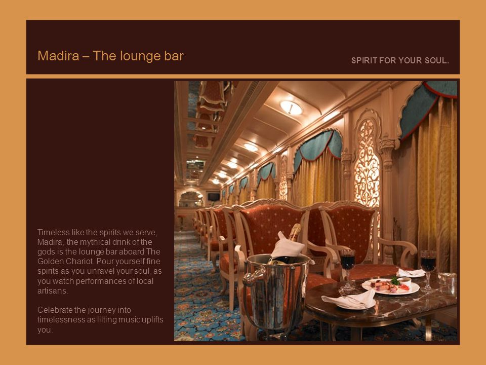Madira – The lounge bar SPIRIT FOR YOUR SOUL.