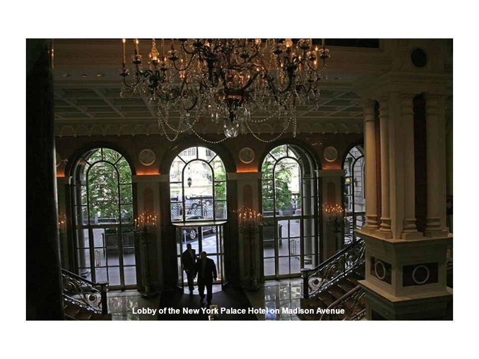 Lobby of the New York Palace Hotel on Madison Avenue