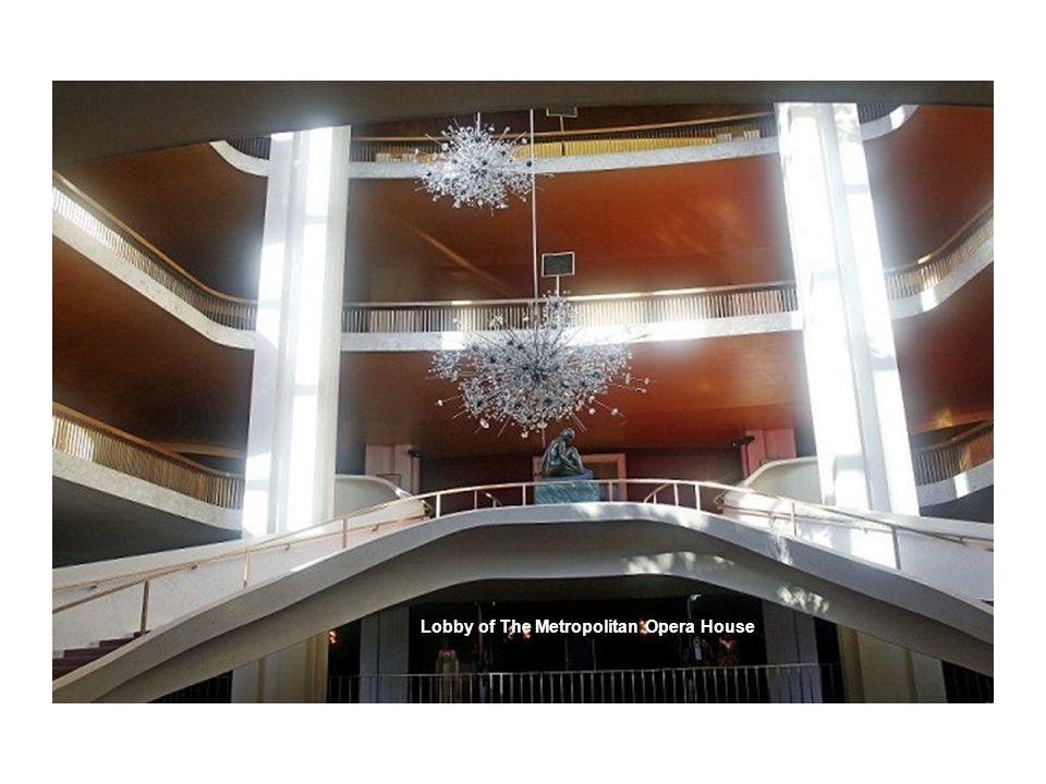 Lobby of The Metropolitan Opera House