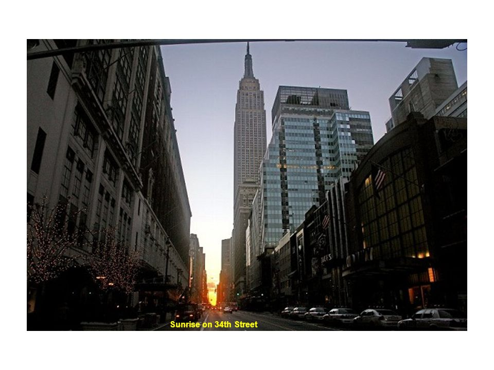 Sunrise on 34th Street