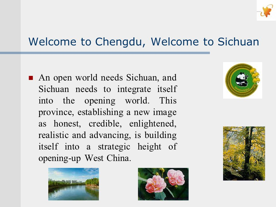 Welcome to Chengdu, Welcome to Sichuan An open world needs Sichuan, and Sichuan needs to integrate itself into the opening world.
