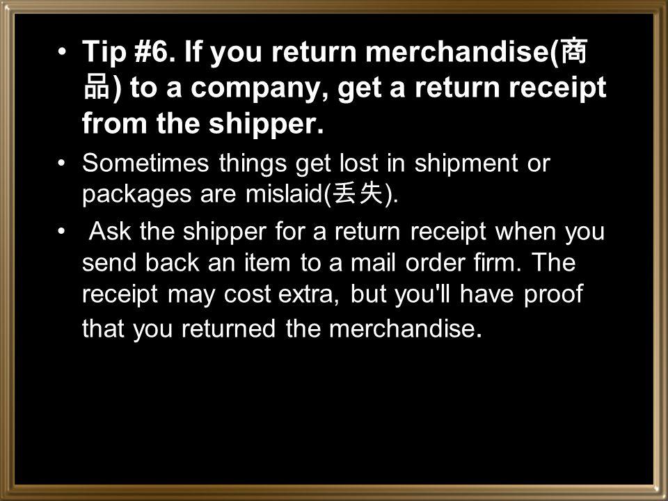 Tip #5.